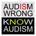 Audism Is Wrong Poster