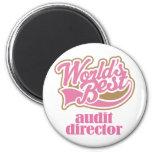 Audit Director Pink Gift Fridge Magnets
