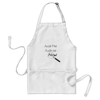 Audit me! adult apron