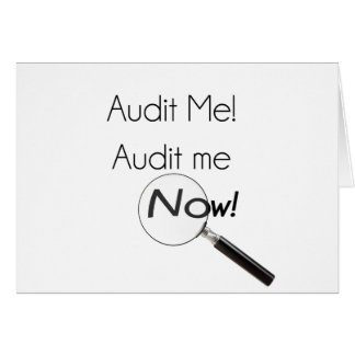 Audit me! card