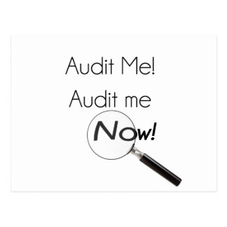 Audit me! postcard