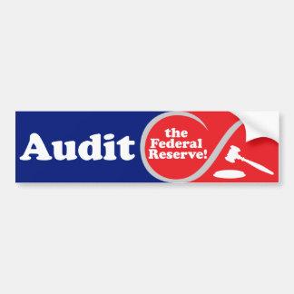 Audit the FED Bumper Sticker Car Bumper Sticker