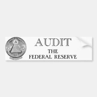 Audit The Fed Car Bumper Sticker