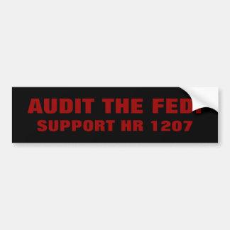 AUDIT THE FED!, SUPPORT HR 1207 BUMPER STICKER