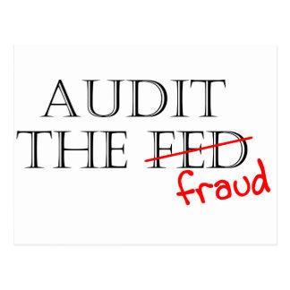 Audit the Fraud Postcard