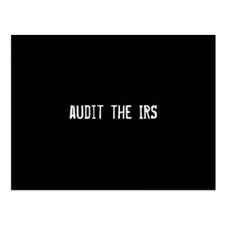 audit the IRS Postcard