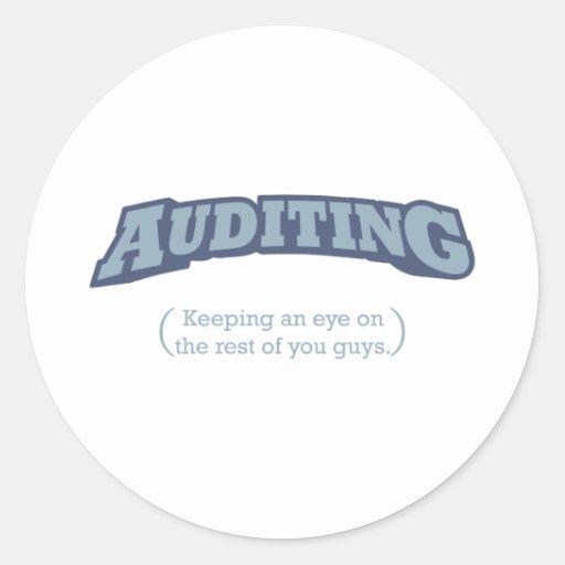 Auditing - Eye Classic Round Sticker