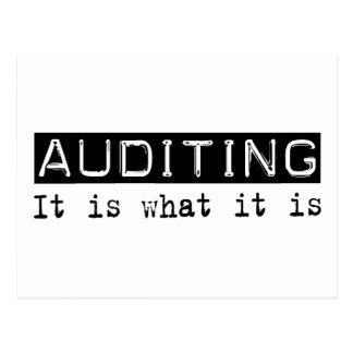 Auditing It Is Postcard