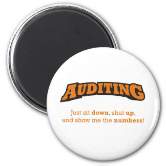 Auditing-Numbers Refrigerator Magnets