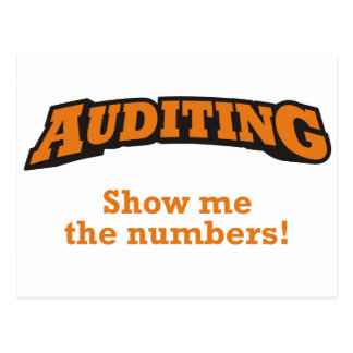 Auditing / Numbers Postcard