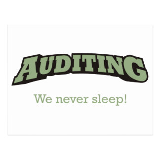 Auditing - Sleep Postcard