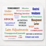 Auditing Swear Words Annoying Funny Audit Joke Mouse Pad