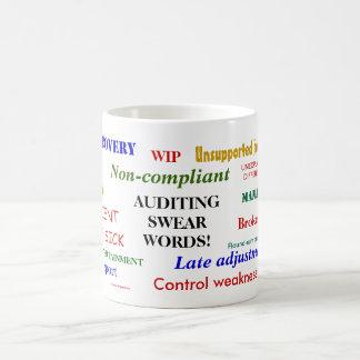 Auditing Swear Words Annoyingly Funny Auditor Joke Coffee Mug