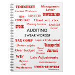 Auditing Swear Words Joke Auditor Gift Idea Notebook