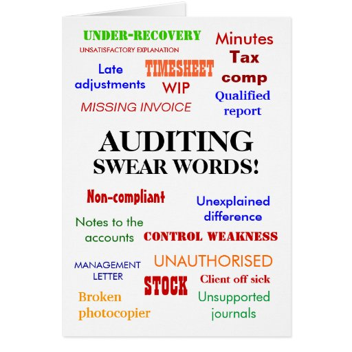 Auditing Swear Words! (multicolour) Cards