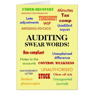 Auditing Swear Words! Rude Auditor Birthday Card