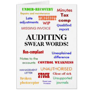 Auditing Swear Words! Thank You Greeting Card