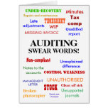 Auditing Swear Words! Thank You Cards