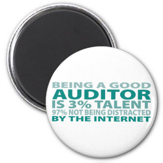 Auditor 3% Talent 2 Inch Round Magnet