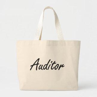 Auditor Artistic Job Design Jumbo Tote Bag