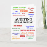 Auditor | Auditing Swear Words | Thank You