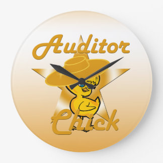 Auditor Chick #10 Large Clock