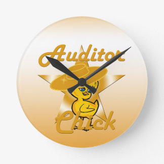 Auditor Chick #10 Round Clock