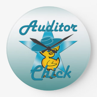 Auditor Chick #7 Large Clock