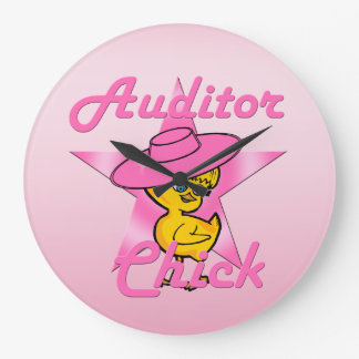 Auditor Chick #8 Large Clock