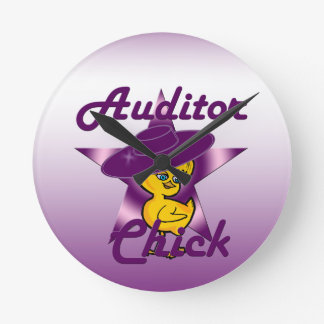 Auditor Chick #9 Round Clock