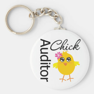 Auditor Chick Keychain