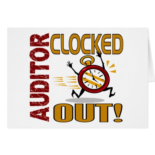 Auditor Clocked Out Card