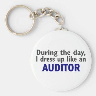 AUDITOR During The Day Basic Round Button Keychain