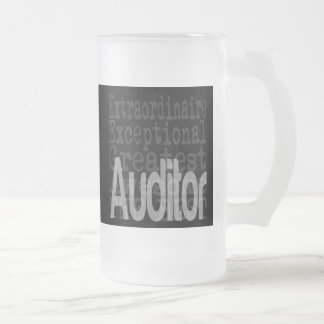 Auditor Extraordinaire Frosted Glass Beer Mug
