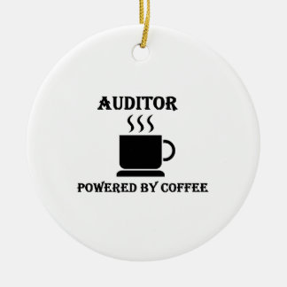 """""""Auditor"""" Powered by Coffee Ceramic Ornament"""