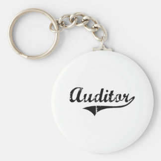 Auditor Professional Job Basic Round Button Keychain