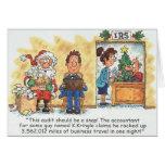 Auditoría de Santa de la tarjeta de Navidad del co