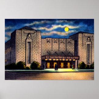 Auditorio de la ciudad de Asheville Carolina del N Póster