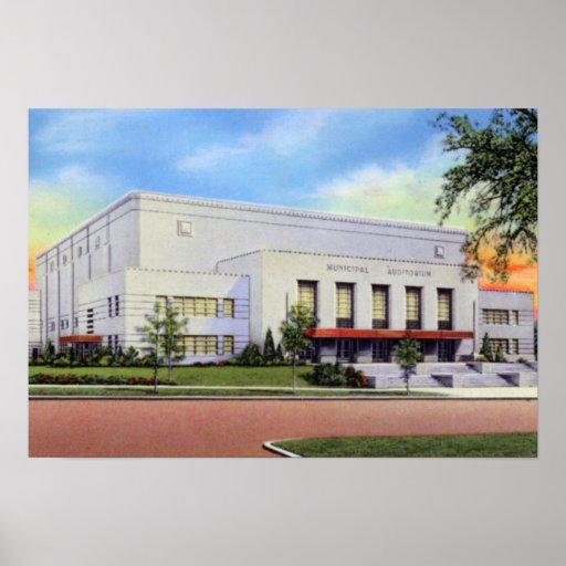 Auditorio del Municipal del Topeka Kansas Poster