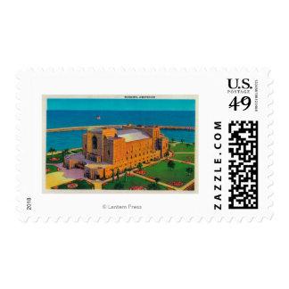Auditorio municipal en Long Beach, California Sello