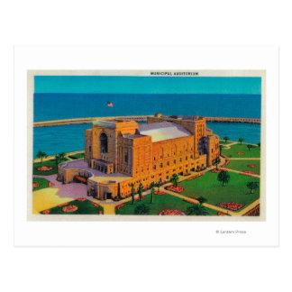 Auditorio municipal en Long Beach, California Tarjeta Postal