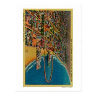 Auditorio, playa, y embarcadero del arco iris postales