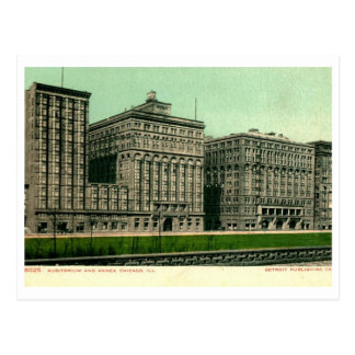 Auditorio, vintage de Chicago, Illinois Postales