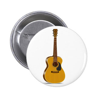 Auditorium Acoustic Guitar Pinback Buttons
