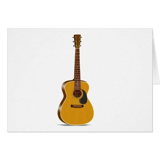 Auditorium Acoustic Guitar Card