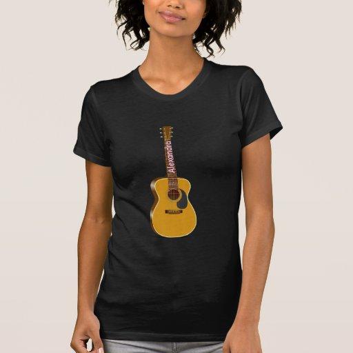 Auditorium Acoustic Guitar Template T-shirt