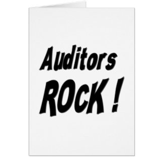 Auditors Rock! Greeting Card
