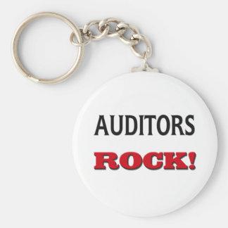 Auditors Rock Basic Round Button Keychain
