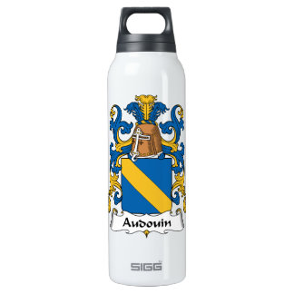 Audouin Family Crest 16 Oz Insulated SIGG Thermos Water Bottle