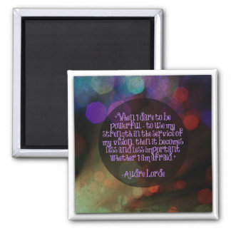 Audre Lorde Quote Magnet